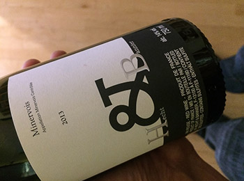 Photo of wine bottle at angle