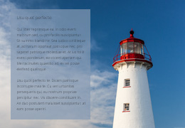 Lighthouse photo with text