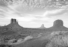 Black and white desert photo